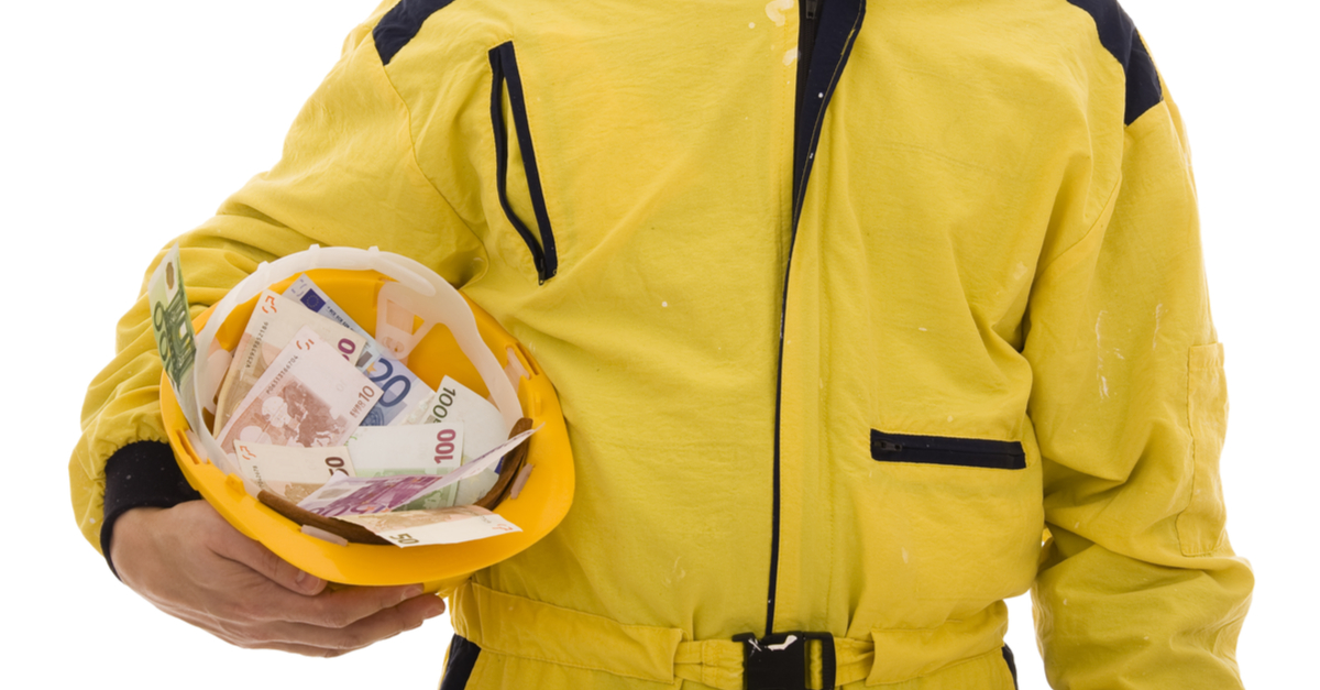 Peruspalkka keskimäärin jopa 6101 euroa/kk – rakennusalan palkkojen nousutahti omassa sarjassaan