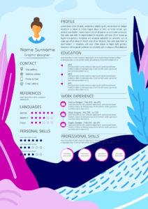 Visuaalinen CV Ansioluettelo 2
